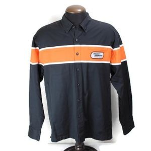 Harley Davidson Racing Long Sleeve Button Front XL